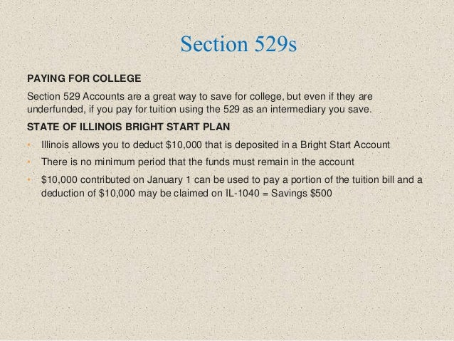 PAYING FOR COLLEGE Section 529 Accounts are a great way to save for college, but even if they are underfunded, if you pay ...