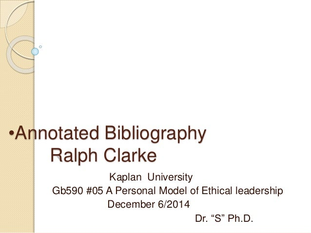 gb590 annotated bibliography