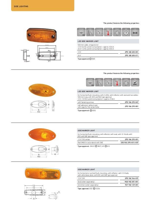 Hella 2PS 964 295-057 Side Marker Light