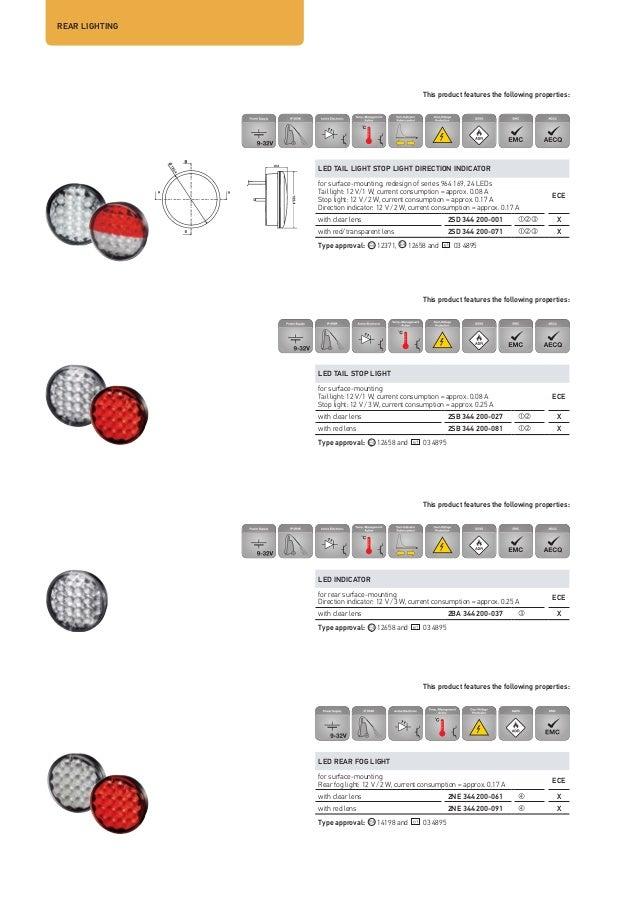 OE Hella SIDE /& REAR LAMP COMBINATION TAILGHT 2VP341419-121 Caraluna II