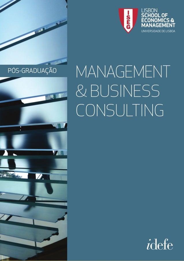 PÓS-GRADUAÇÃO MANAGEMENT & BUSINESS CONSULTING