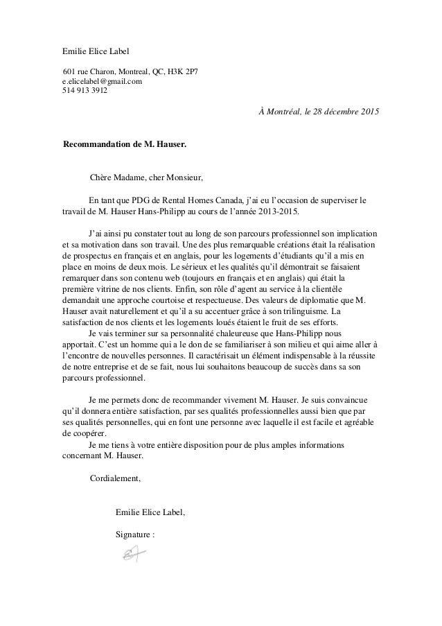 lettre de recommandation générale Lettre de recommandation generale lettre de recommandation générale