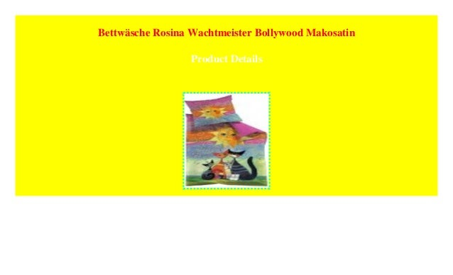 Bettwäsche Rosina Wachtmeister Bollywood Makosatin