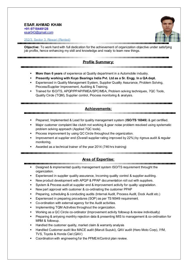 Resume Qa 6 Years Exp In Automotive Company