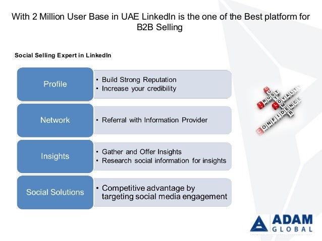 With 2 Million User Base in UAE LinkedIn is the one of the Best platform for B2B Selling Social Selling Expert in LinkedIn