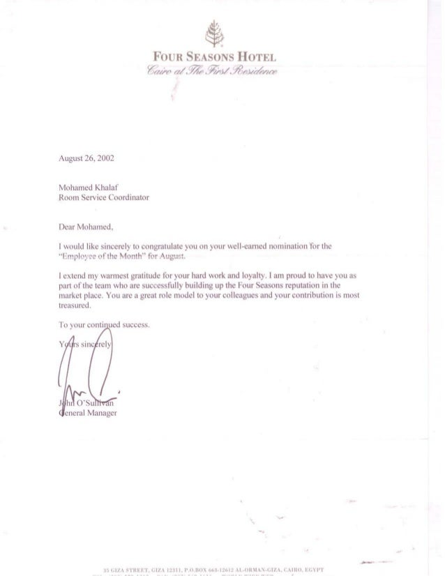 Four Seasons Employee of the Month letter in 2002.PDF
