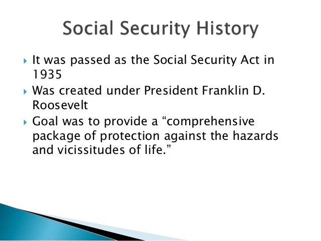 an introduction to the history of the social security act of 1935 Almost immediately after its introduction, the act began to  a program and policy history social security:  long term significance of the social security act.