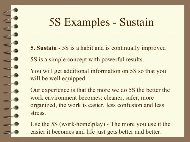 5s Standardize Examples: 5s Audit Checklist For