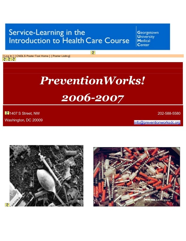 [ Log In ] [ CNDLS Poster Tool Home ] [ Poster Listing] 2006-2007 | PreventionWorks! PreventionWorks! 2006-2007 1407 S Str...