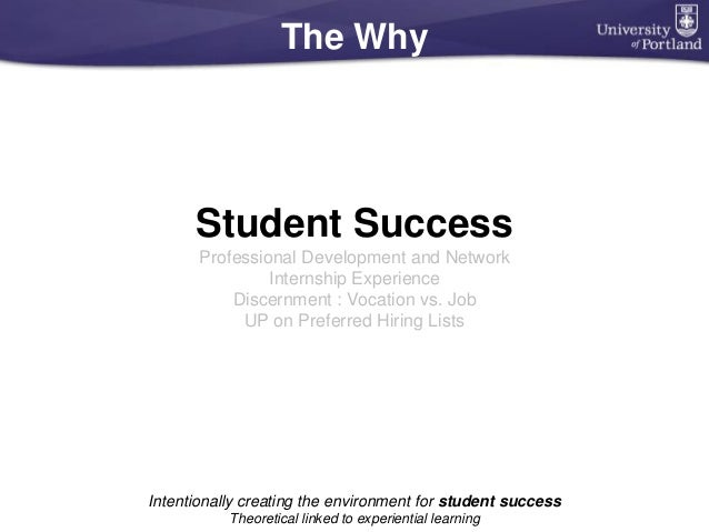 The Why Student Success Professional Development and Network Internship Experience Discernment : Vocation vs. Job UP on Pr...