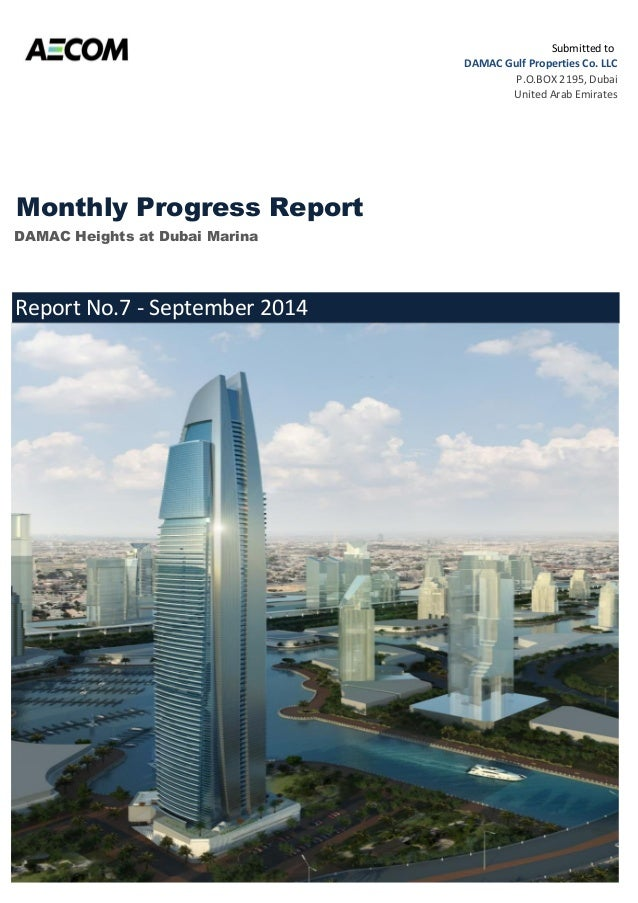 monthly progress report september 2014
