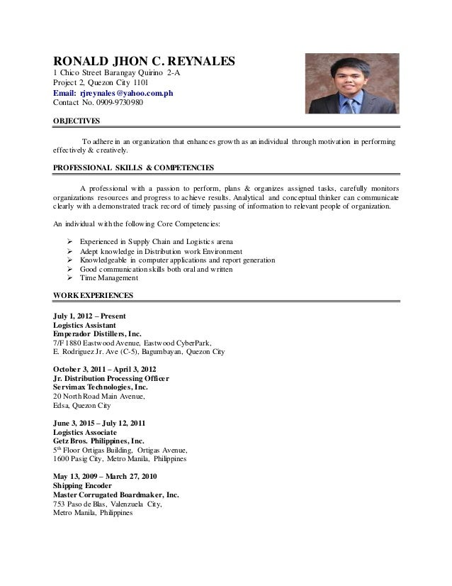 resume work abroad