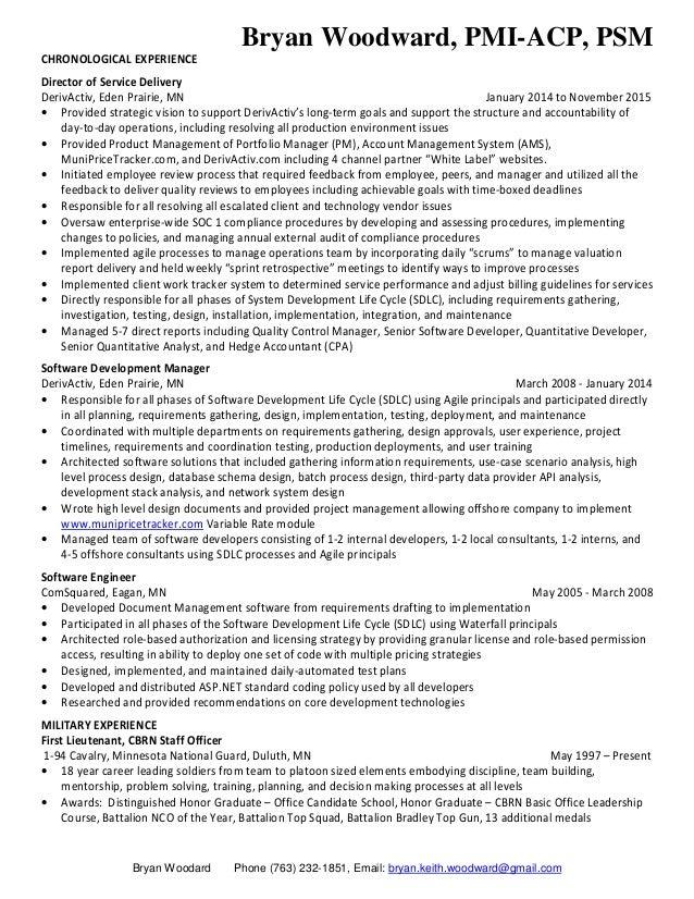 procurement 2 - Software Development Manager Resume