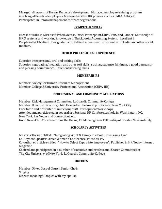 claudette u0026 39 s resume