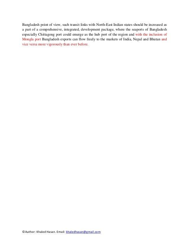 MODERNIZATION OF SEAPORT OF BANGLADESH FOR REGIONAL ...