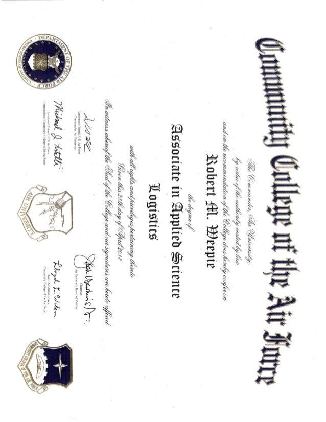 ccaf diploma