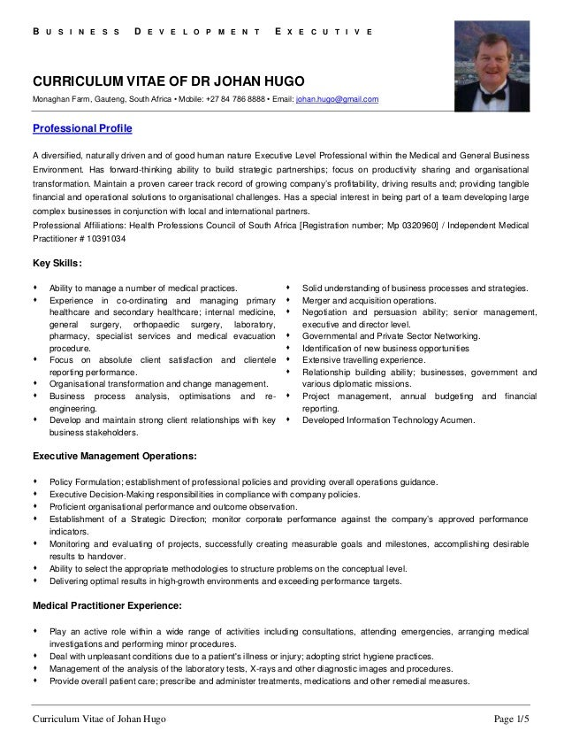 professional cv of dr johan hugo 1