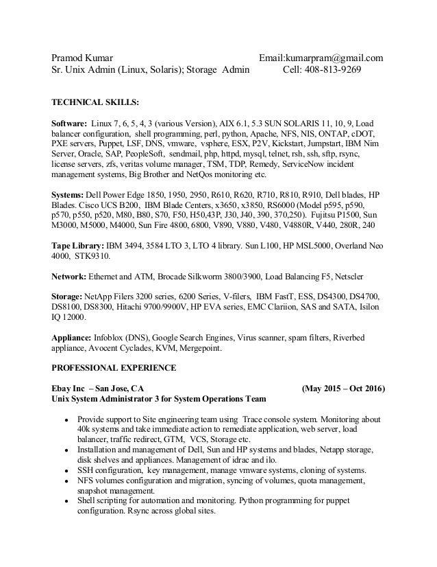 resume of pramod kumar