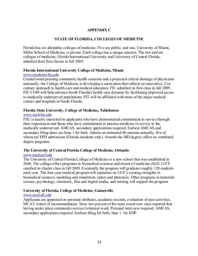 fiu letter of recommendation medical school - Selo.l-ink.co