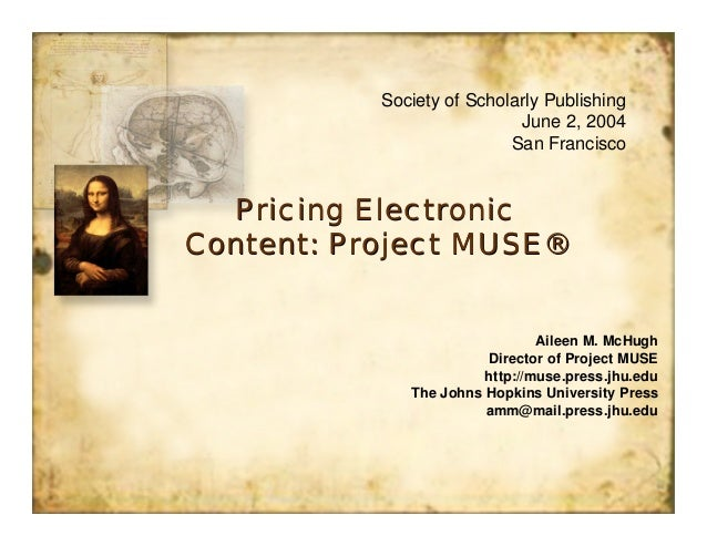 Society of Scholarly Publishing                            June 2, 2004                           San Francisco  Pricing E...