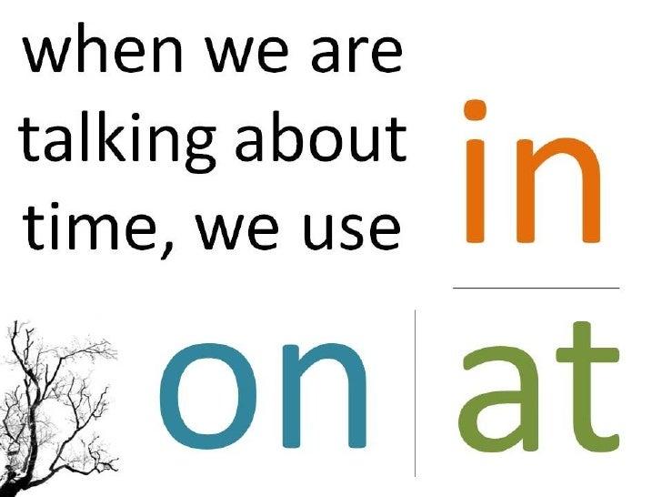 Grammar - Prepositions - Time Slide 2