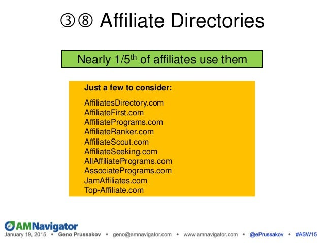 Source: AffiliateBenchmarks 2013 Global Advertiser Research Report Top Recruitment Methods (adv)