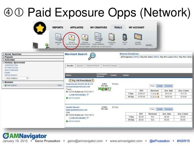  Paid Exposure Opps (Network)