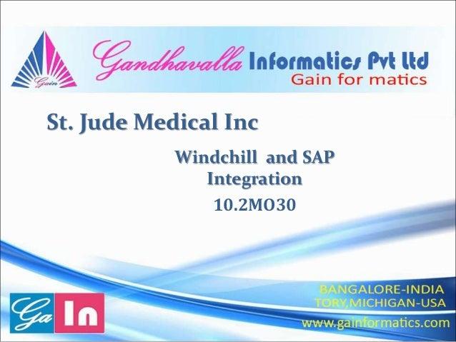 St. Jude Medical Inc Windchill and SAP Integration 10.2MO30