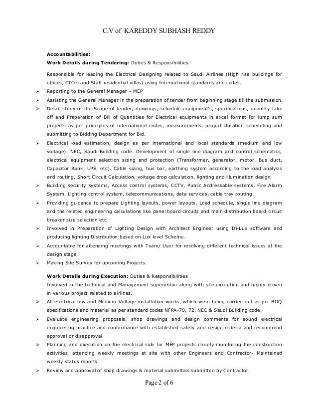 page 1 of 6 2 - Responsibilities Of An Electrician