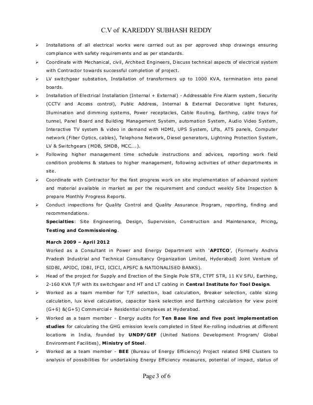 Electrical Engineer Cv Example Pdf Resume Sample Free Download Australia  Embedded Template .
