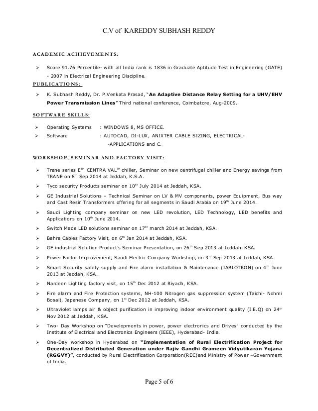 Resume - Electrical Engineer (MEP) 9+ Years Exp