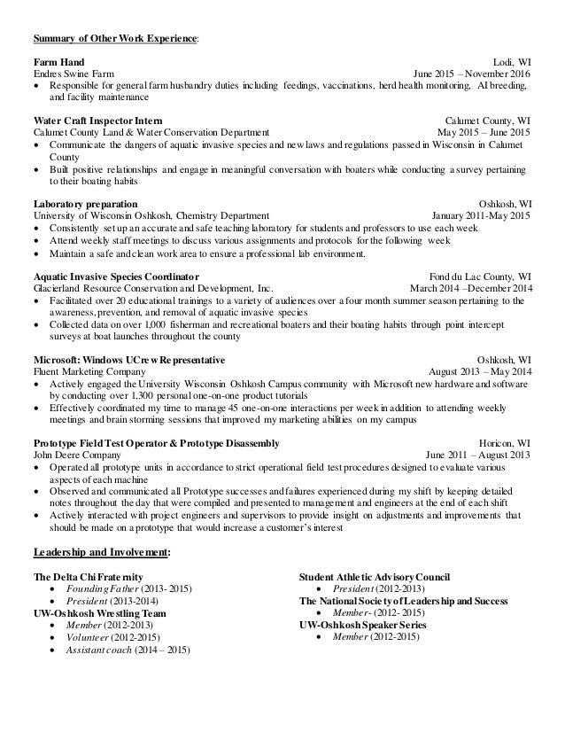 Amazing Horse Farm Hand Resume Image Collection - Resume Ideas ...