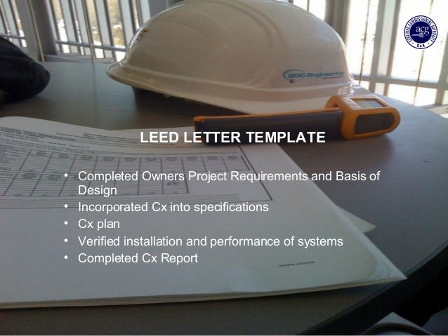 Bdc leed cx preso for Leed letter template