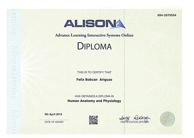 Diploma in Anatomy and Physiology