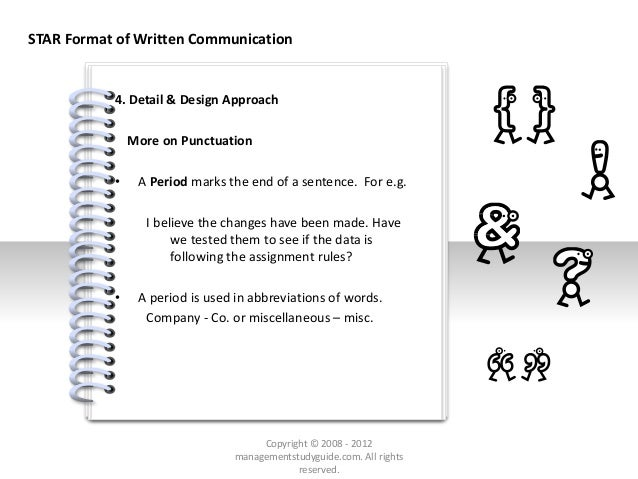 # 4. Detail & Design Approach More on Punctuation • A Period marks the end of a sentence. For e.g. I believe the changes h...