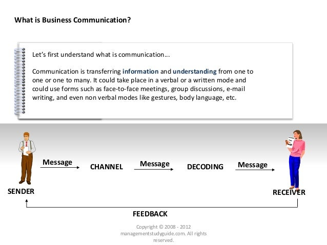 # Let's first understand what is communication... What is Business Communication? Communication is transferring informatio...