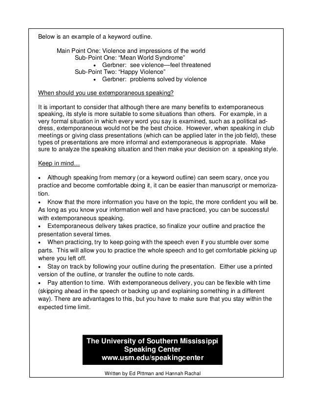 SC Extemporaneous Speaking Guidesheet