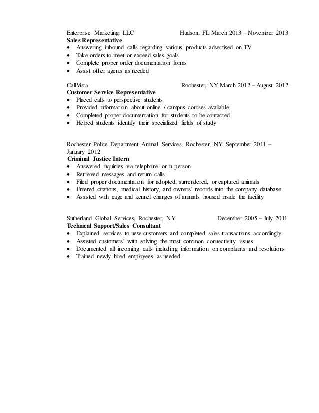 2016 Customer Service Resume
