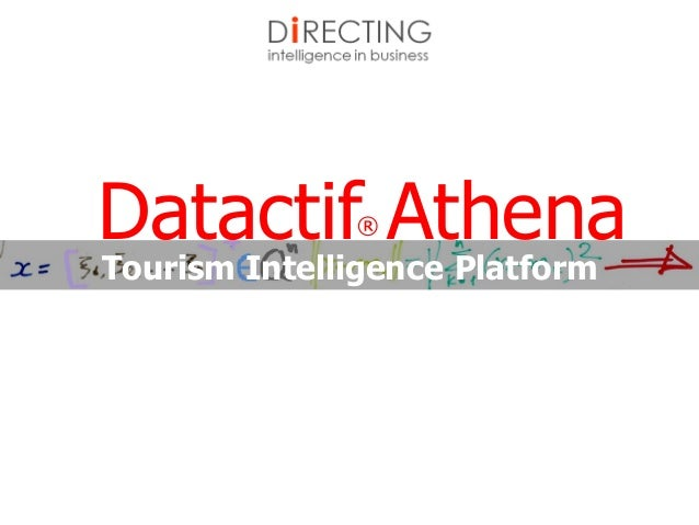 Tourism Intelligence Platform Datactif® Athena