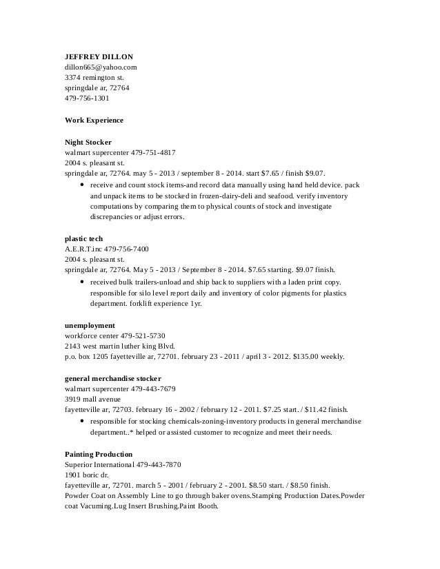 Resume Stock Resume Sample Warehouse Stocker Resume Stocker Resume