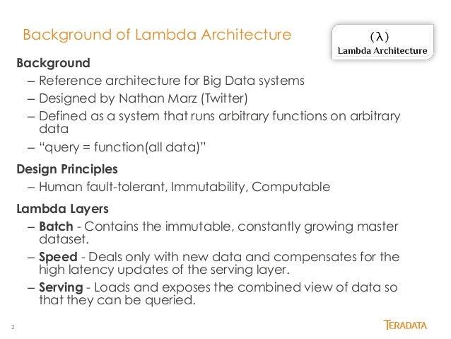 Lambda Architecture The Hive Slide 2