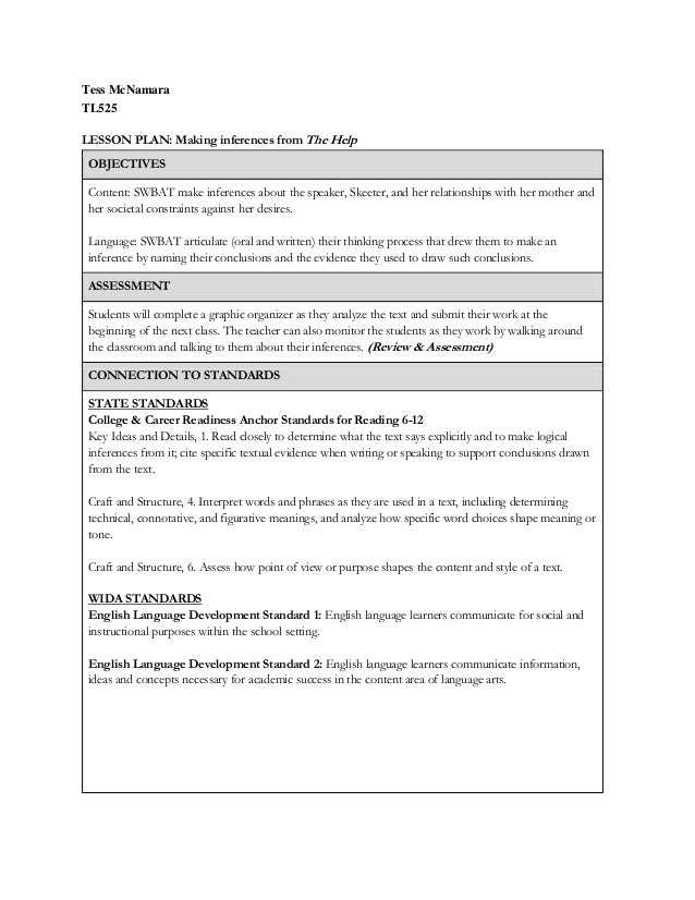 395a49cfedff4c Lesson Plan 1 - Making Inferences