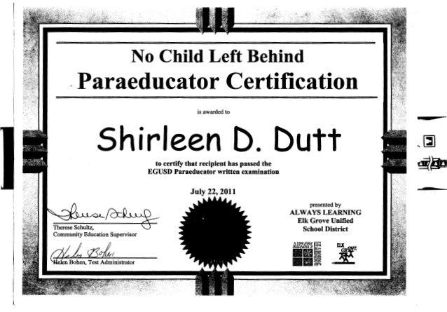NCLB Paraeducator Certification