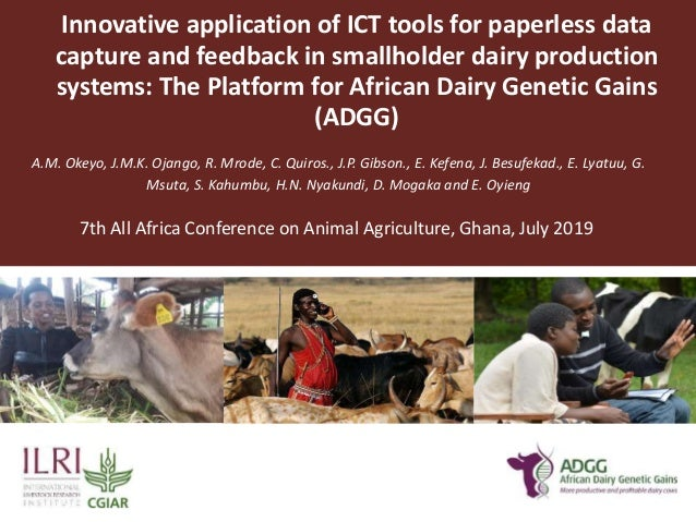 Innovative application of ICT tools for paperless data capture and feedback in smallholder dairy production systems: The P...