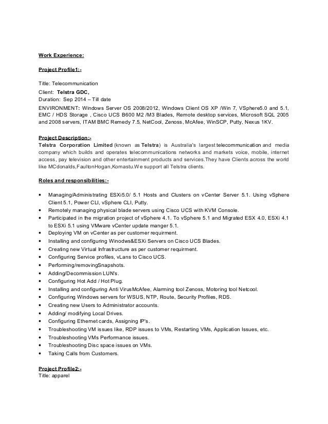 Zenoss Administrator Resume
