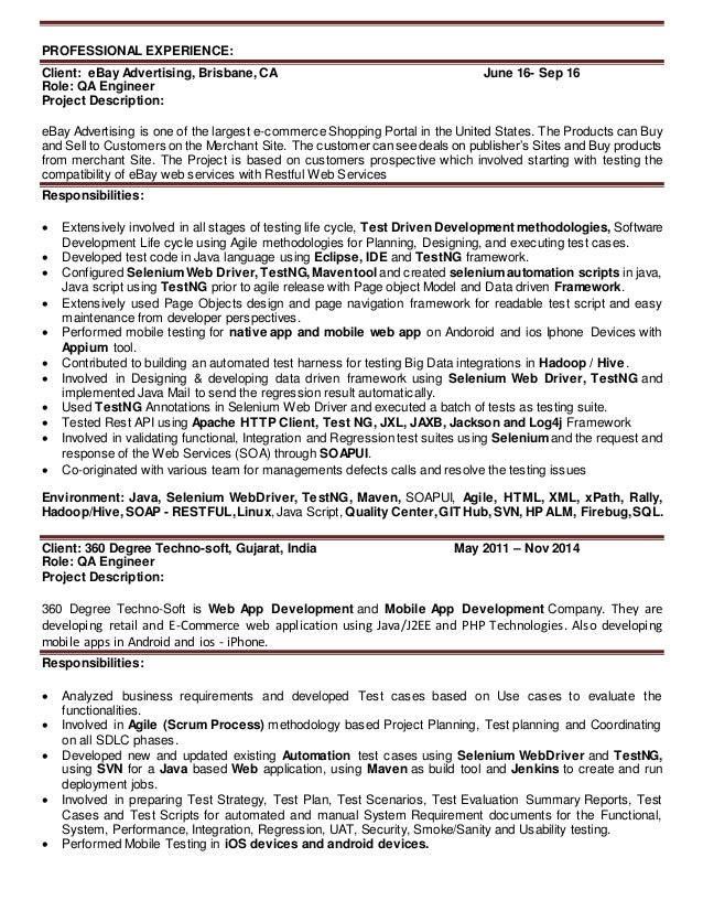 Qa Resume Unforgettable Quality Assurance Resume Examples To Stand