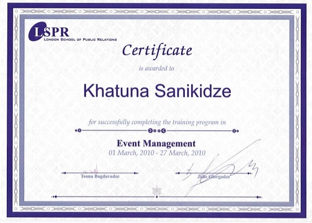certificate event management