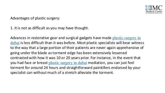 advantages and disadvantages of cosmetic surgery essay ielts