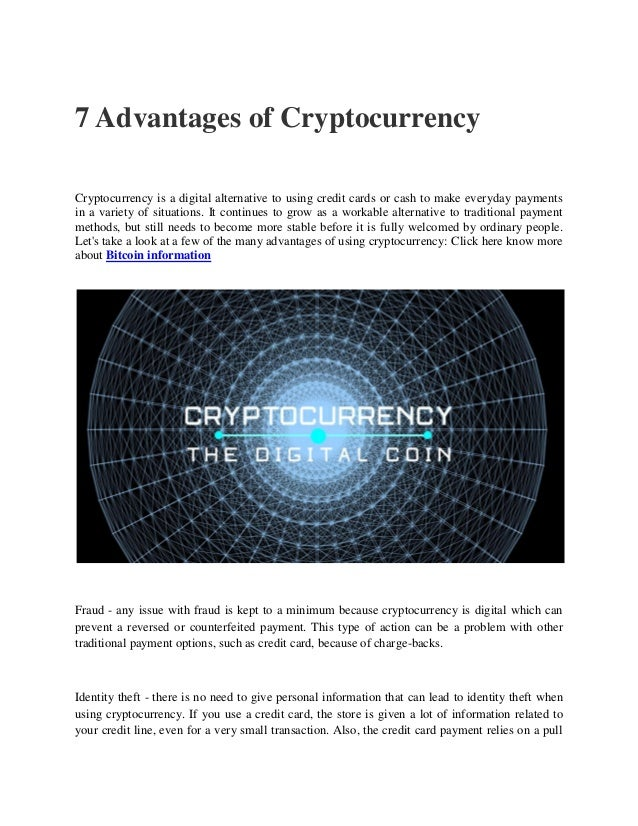 7 advantages of cryptocurrency