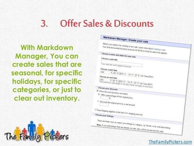 3. Offer Sales & Discounts With Markdown Manager, You can create sales that are seasonal, for specific holidays, for speci...